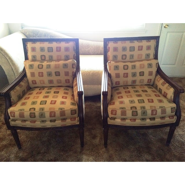 Ethan Allen Neoclassical Style Accent Chairs- Pair - Image 2 of 7
