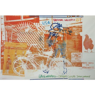 Robert Rauschenberg-Bicycle, National Gallery, 1992 Foil Print