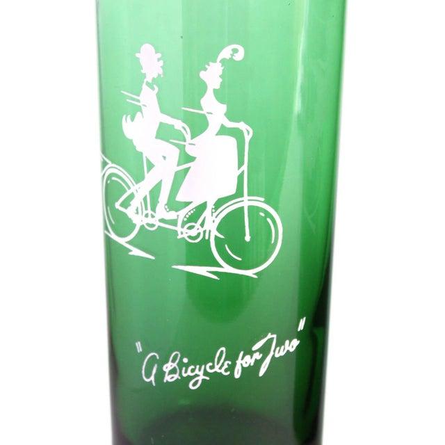 Vintage Green Drinking Glasses- Set of 4 - Image 2 of 6