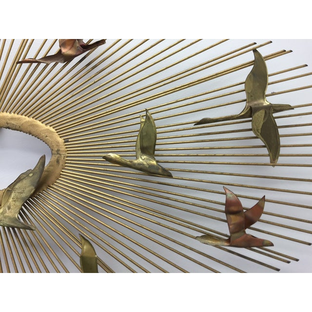 Curtis Jere Sunburst With Birds Wall Sculpture - Image 8 of 8