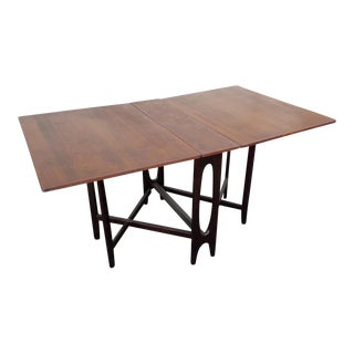 Mid-Century Danish Compact Expandable Wood Table