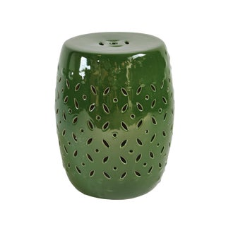 Emerald Green Ceramic Garden Stool
