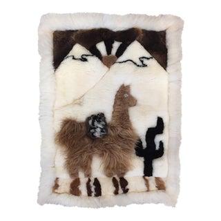 """Boho Chic Llama Fur Rug - 1'9"""" X 2'4"""""""