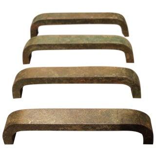 Mid Century Modern Metal Drawer Pulls - Set of 4
