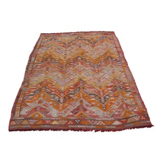 Vintage Turkish Kilim Rug - 5′2″ × 7′10″
