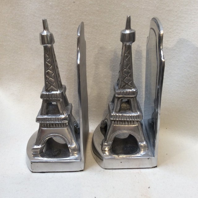 Aluminum Eiffel Tower Bookends - A Pair - Image 5 of 6