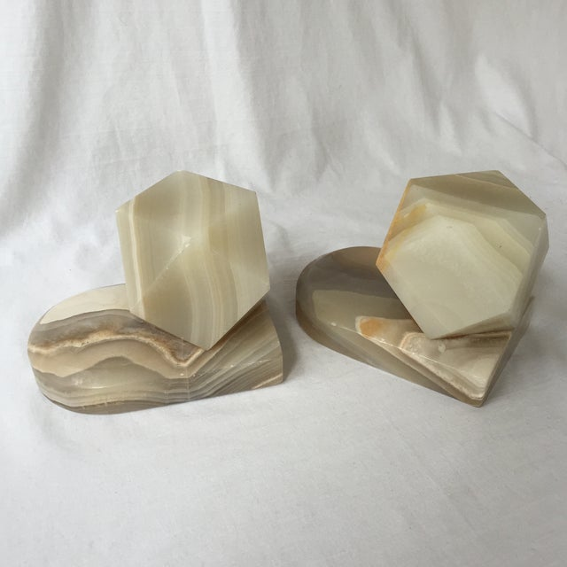 Image of Geometric Onyx Bookends