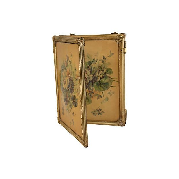 19th C. Celluloid Trifold Beveled Mirror - Image 3 of 6