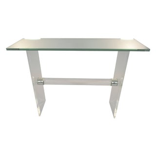 Lucite & Chrome Console Table