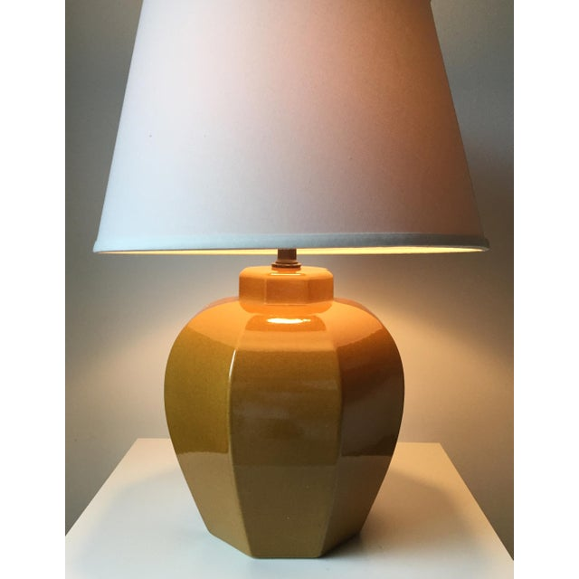 2 Mid Century Chinoiserie Ceramic Lamps - Image 2 of 5