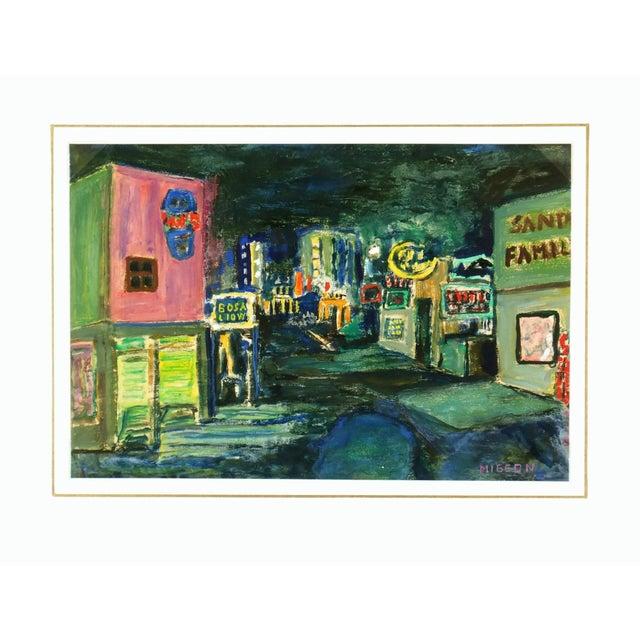 Modern Art Painting - Big City Nightlife - Image 4 of 4