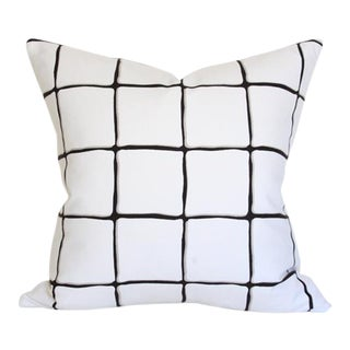 Painted Check Ink Pillow Cover 17""