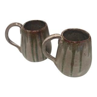 Vintage Studio Pottery Coffee Mugs - A Pair