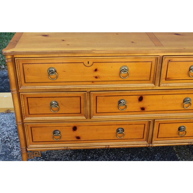 Image of Mid-Century Faux Bamboo Dresser by Baker