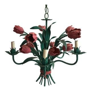 Italian Tole Tulip Chandelier