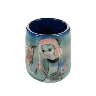 Mid-Century Painted Pottery Vase