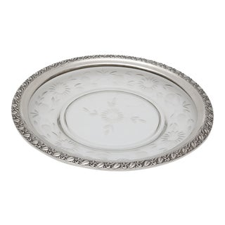 Sterling Silver Mounted Crystal Serving Dish