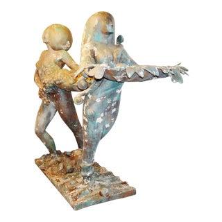Goddesses of Abundance World Trade Center Sculptures - a Pair