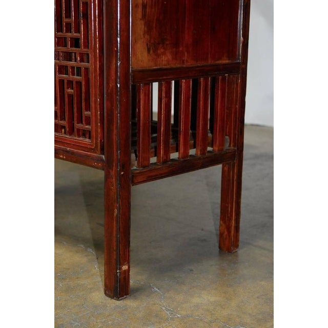 Chinese Kitchen Cabinets: Chinese Lacquered Lattice Door Kitchen Cabinet