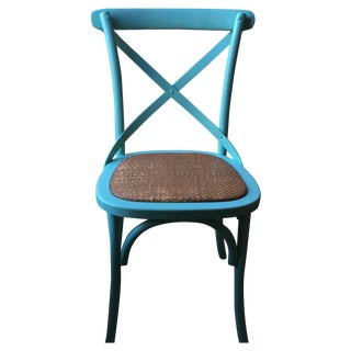 Blue Cottage Style Chairs - A Pair