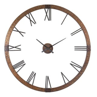 Large Copper & Brass Wall Clock