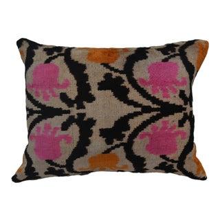 Silk Velvet Ikat Mel Pillow