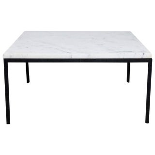 Florence Knoll Marble Top T-Angle Side Table