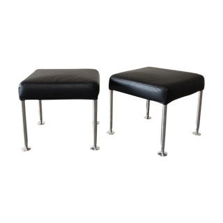 B&B Italia Black Ottomans - A Pair