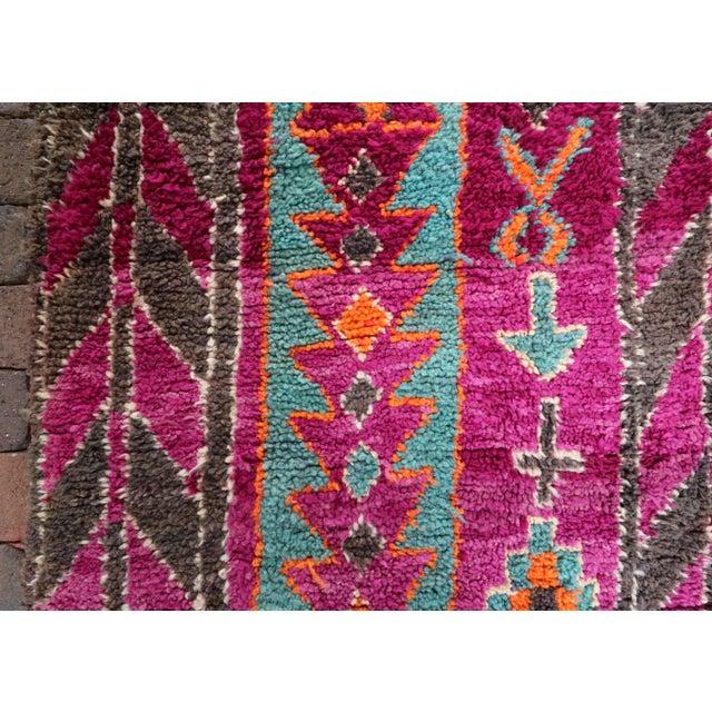 Vintage Moroccan Purple & Teal Talsint Rug - 5′12″ × 11′2″ - Image 3 of 7