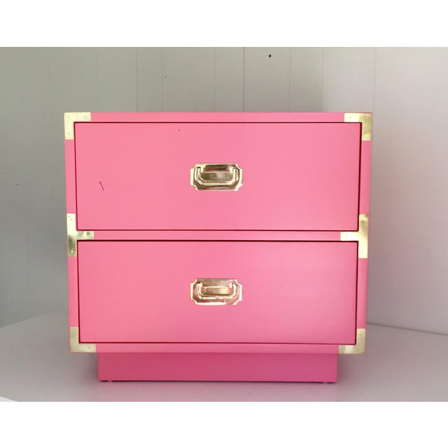 Dixie Vintage Campaign Nightstand in True Pink - Image 3 of 4