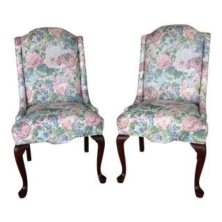Pennsylvania House Floral Slipper Chairs - A Pair