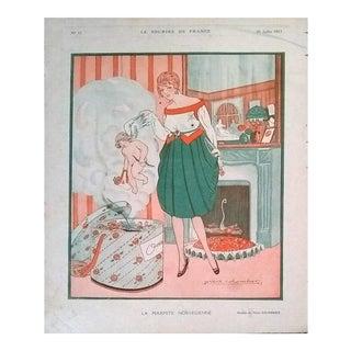 """Pière Colombier 1917 """"La Marmite Norvégienne"""" Le Sourire Print"""