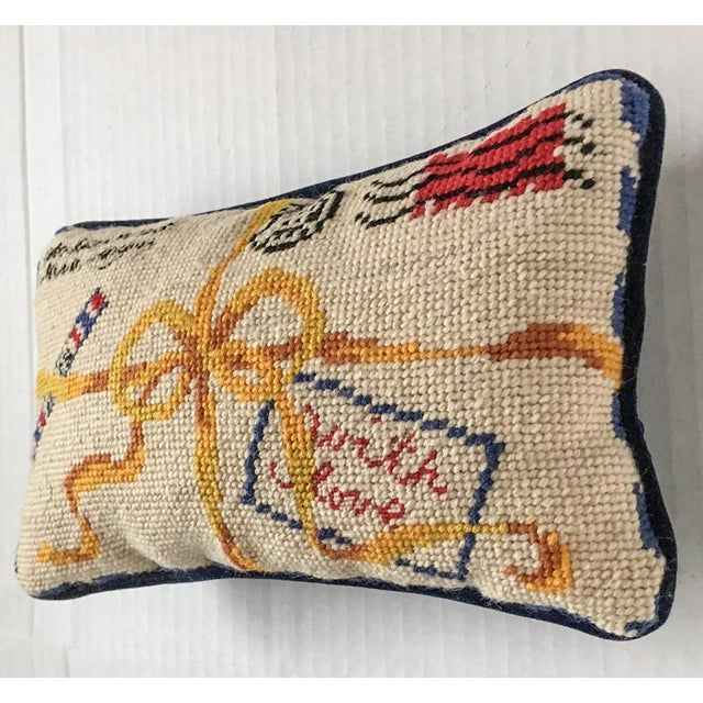 "French Style ""With Love"" Par Avion Letter Needlepoint Pillow - Image 3 of 5"