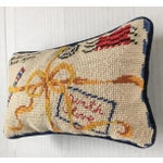 "Image of French Style ""With Love"" Par Avion Letter Needlepoint Pillow"