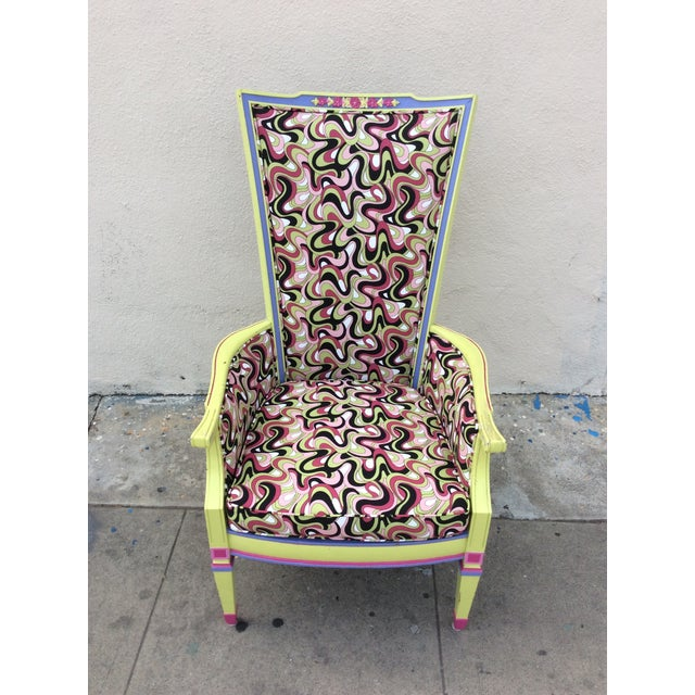 Multicolor High Back Chair - Image 3 of 7