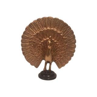 Brass Peacock Objet