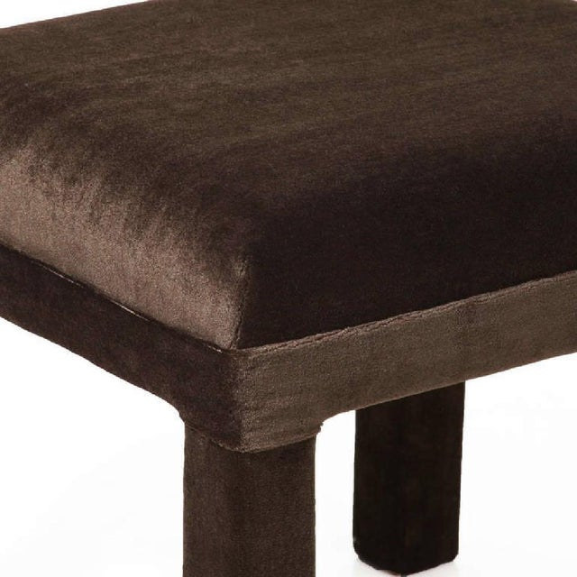 Mid-Century Sorrel Mohair Stools - A Pair - Image 4 of 4
