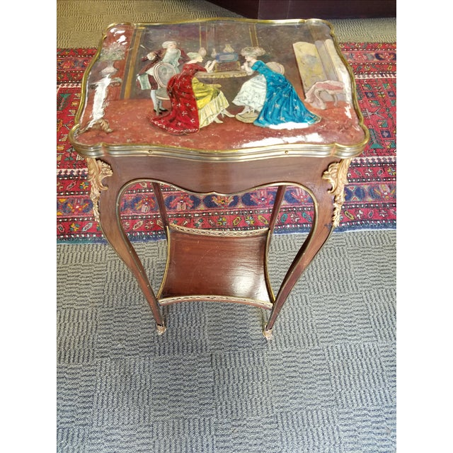 Antique French Enamel Palos Table - Image 2 of 7