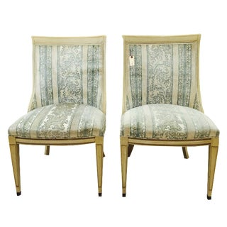 Vintage French Style Slipper Chairs - A Pair