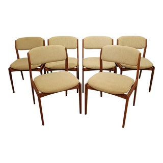Mid-Century Danish Mobler Style Teak Dining Chairs - Set of 6