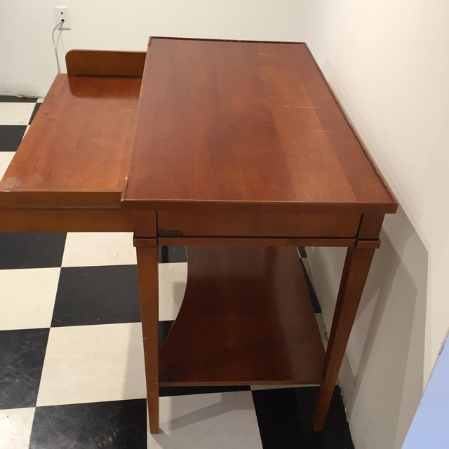 Image of Computer Desk with Retractable Shelf
