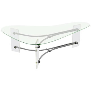 Biomorphic Lucite Cocktail Table by Charles Hollis Jones
