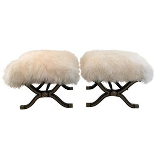 X Stools or Benches, Dorothy Draper Style - Pair