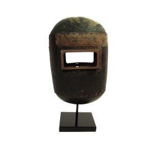 Sculptural Welder's Mask on Stand