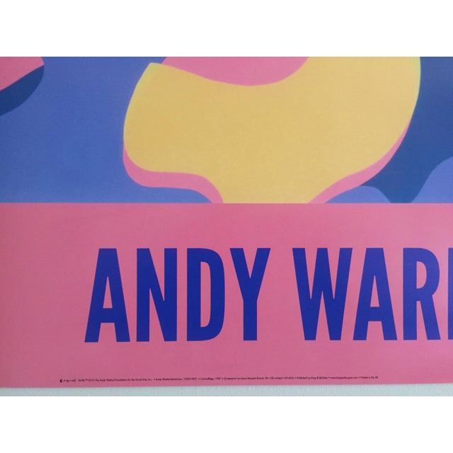 """Andy Warhol Original Lithograph Pop Art Poster """"Pink Camouflage"""" 1987 - Image 10 of 10"""