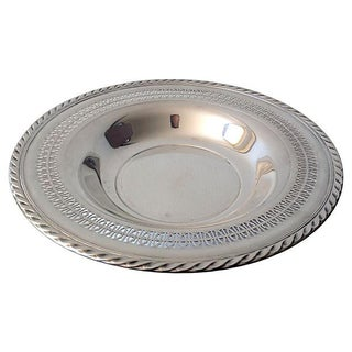 Reticulated Welled Silver Plate Platter