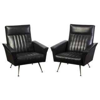 Mid-Century Modernist Armchairs by Zanuso - Pair