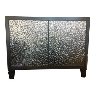 Hammered Mirrored Front Credenza