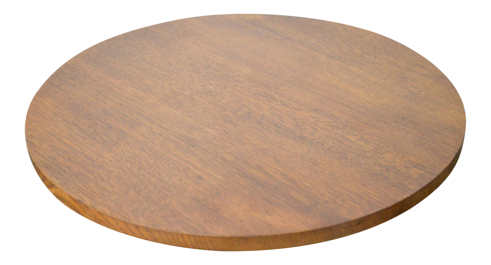 Stickley Solid Oak Round Revolving Table Top Lazy Susan