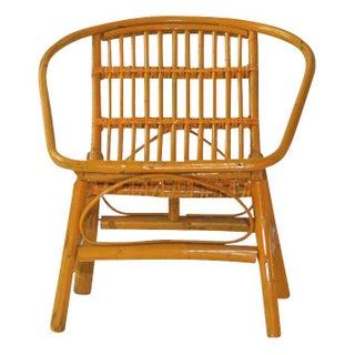 Laguna Rattan Arm Chair in Mustard